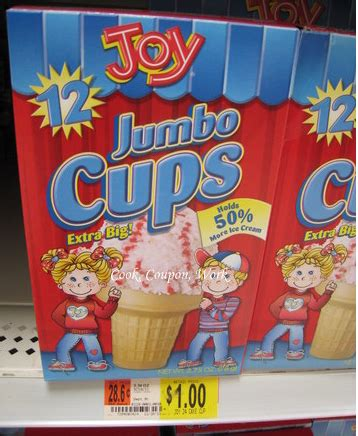 *hot* box fo joy ice cream cones only $0.50!