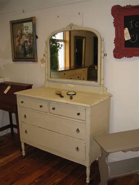 painted antique dresser with mirror sold vintage vanity four drawer dresser with mirror a
