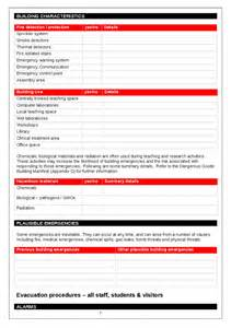 Emergency Protocol Template building emergency procedures manual template hashdoc