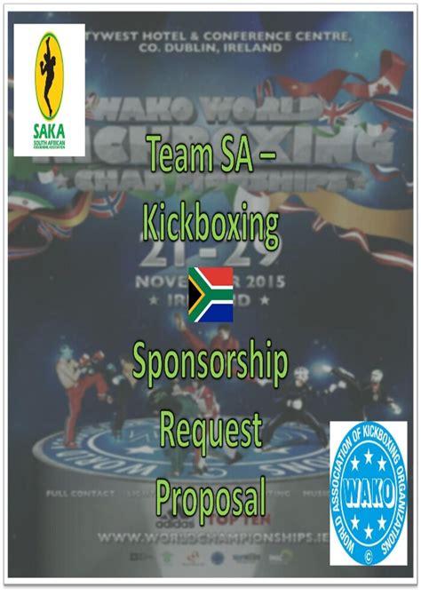 Wako World Chionships 2015 Sponsorship Proposal Latest Fighter Sponsorship Template