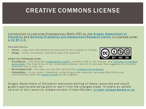 the creative license giving math learning progression ppt video online download