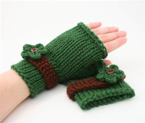 easy knit fingerless gloves pdf digital pattern easy knit fingerless gloves patternknit