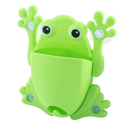 Frog Toothbrush Holder Green Intl household frog design suction cup toothbrush toothpaste
