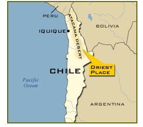 atacama desert south america map cbsnews