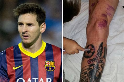 lionel messi tattoo barcelona star ruins world s most