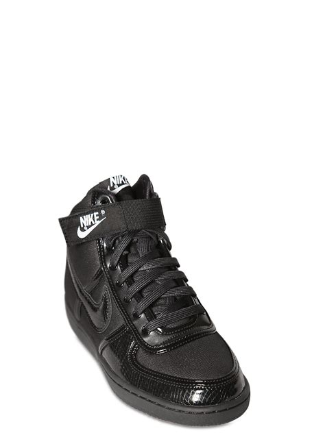 mens nike high top sneakers nike vandal high top sneakers in black for lyst