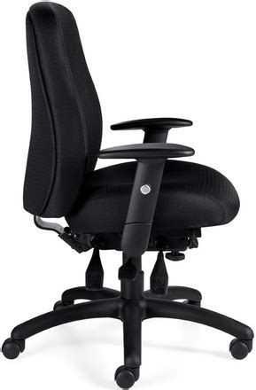 11710 Risna Overall 2 In 1 Black 271217 otg adjustable ergonomic office chair with thick cushions 11710