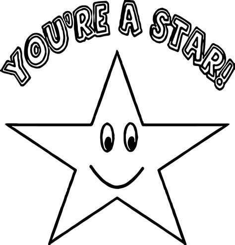 Happy Star Coloring Page | you a star happy star coloring page wecoloringpage
