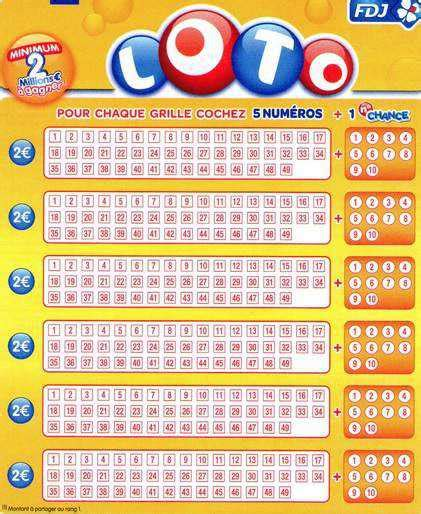 Grille Loto Foot Fdj by Tarif Des Jeux Fdj 174 Grilles Loto Euromillions Keno