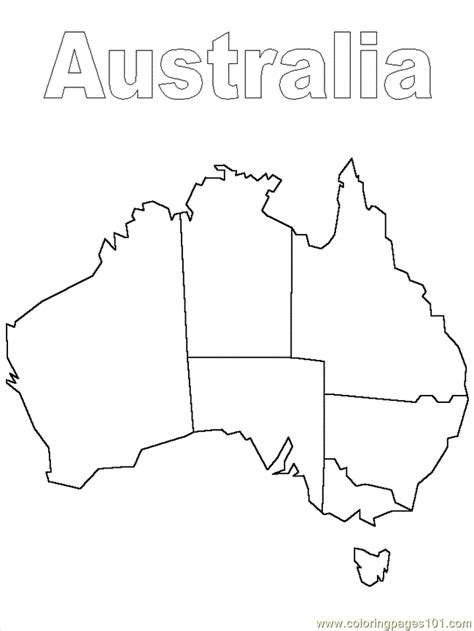 australia map template coloring pages australia 1 countries gt australia free