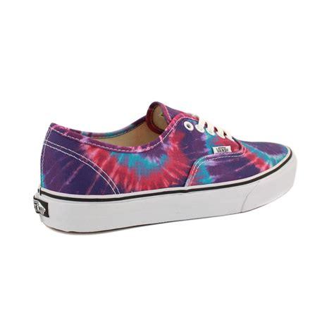 tie dye shoes vans authentic tie dye scq7rs womens canvas shoes laced