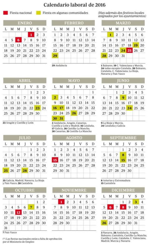 calendario laboral 2017 madrid de opcionis