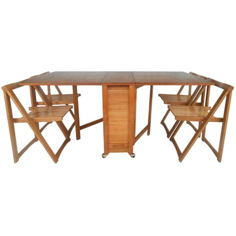 Drop Leaf Table And Chair Set Mid Century Modern Drop Leaf Table And Chairs Set At 1stdibs