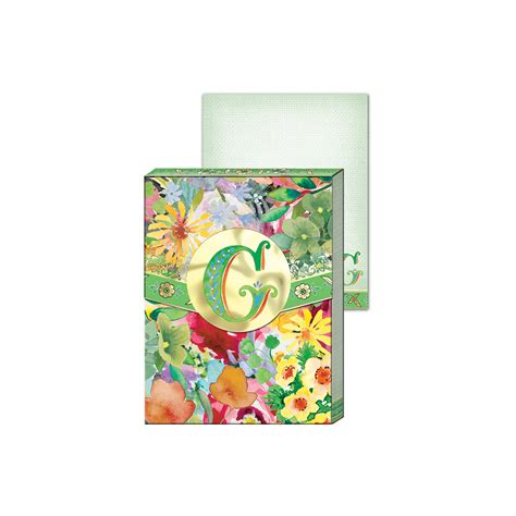 Dreamy Pocket Notes g wildflowers monogram pocket note pad punch studio