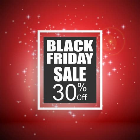 Red Background With Lights Black Friday Vector Free Black Friday Lights