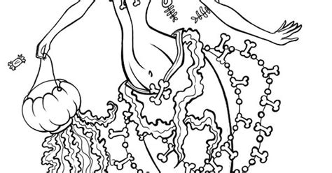 ariel halloween coloring pages ariel from the little mermaid in halloween trick or