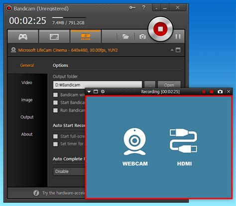 free screen recorder bandicam