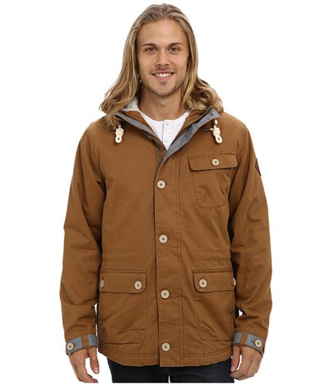 o neill offshore jacket tobacco brown 6pm
