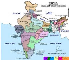 Map Of India Cities by Indian States