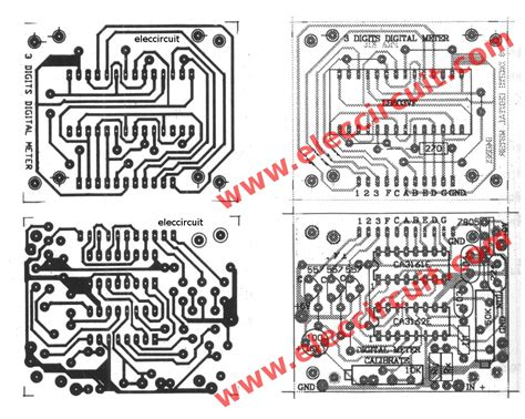 Pcb Mount Voltmeter 3 Digit 3 Wire 0 30v 0 36in 0 36 Blue circuit pcb of cheap digital voltmeter using ca3162 and