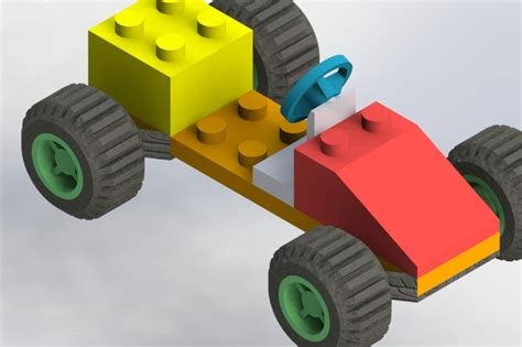 solidworks tutorial toy car toy car for beginners solidworks 3d cad model grabcad