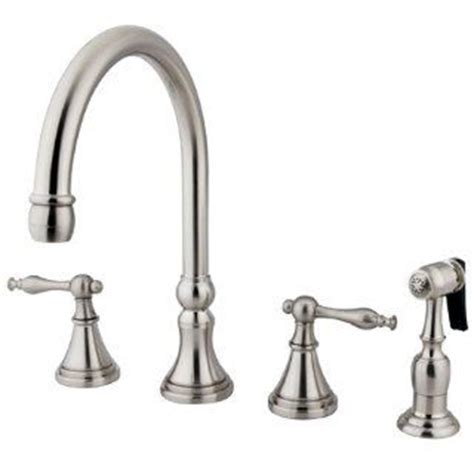 4 piece kitchen faucet satin nickel european style 4 piece kitchen faucet