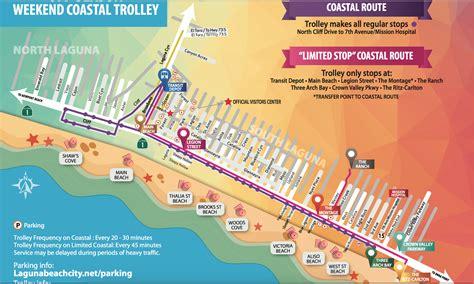 map of laguna laguna free coastal trolley saturday september 9