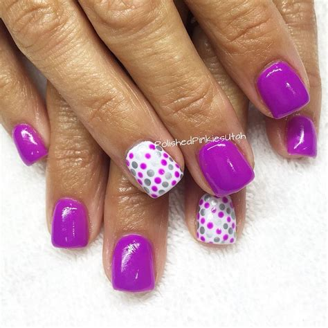Purple Gel Nail
