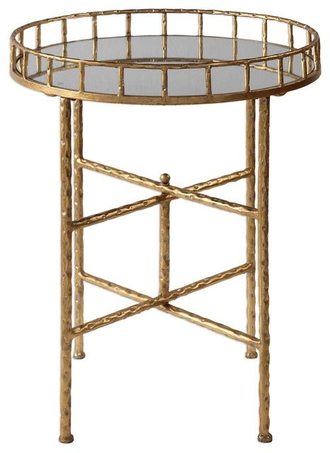 tall round accent table elegant textured gold tall round accent table tray top