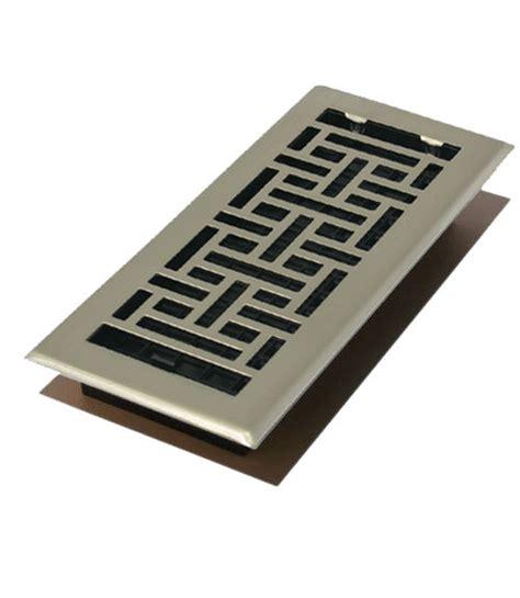 10 Inch Floor L Diffuser - satin nickel 4 quot x 10 quot contemporary floor register cover