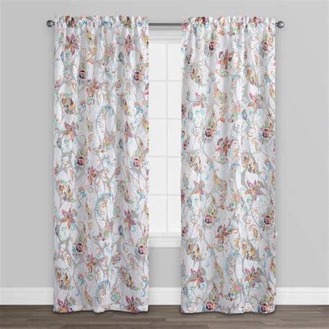 burnout curtains floral sheer burnout curtains set of 2 world market