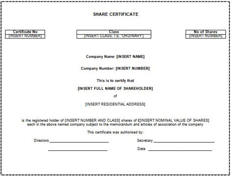 stock certificate template word certificate template 62 free printable word excel pdf