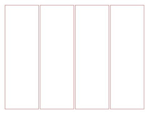 Bookmark Templates For Word by Blank Bookmark Template For Word This Is A Blank