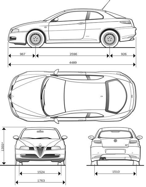 Alfa Romeo GT Blueprint - Download free blueprint for 3D