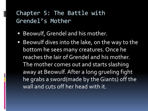 beowulf section summaries beowulf analysis