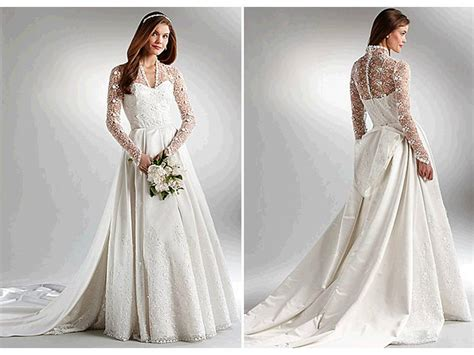 ivory ball gown wedding dress with long sleeves