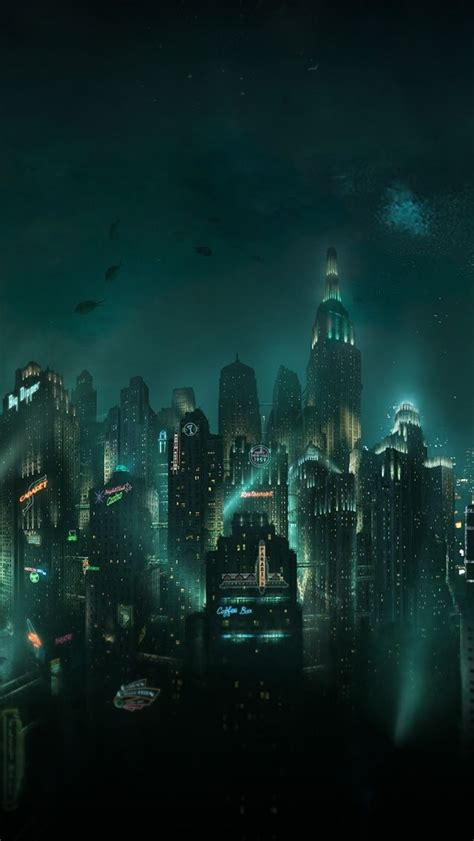 iphone 5s wallpaper video game bioshock rapture iphone 5 wallpaper cyberpunk post