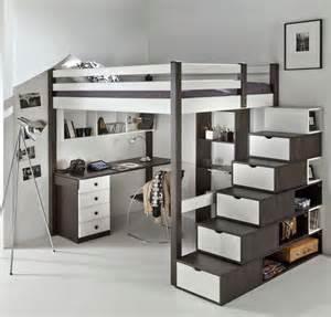 lit mezzanine ado avec bureau et rangement recherche