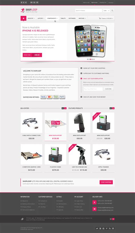 free html5 responsive ecommerce templates shoploop responsive html5 ecommerce template by ahmedchan