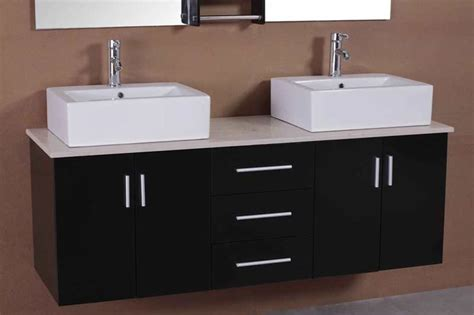 Adorna 61 Inch Contemporary Double Sink Bathroom Vanity 2 Sink Bathroom Vanity