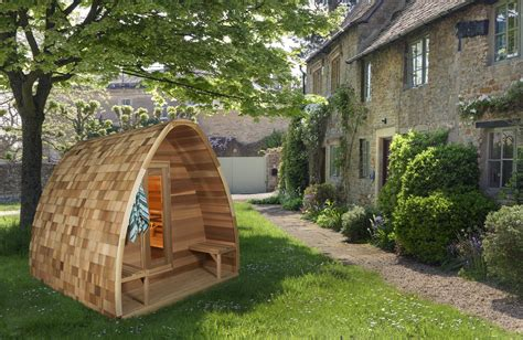 Backyard Sauna by Pod Sauna From Canada S Leading Leisure Company Barrel