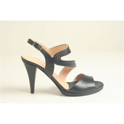 navy heeled sandals calpierre calpierre navy blue leather heeled sandal with