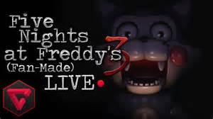 Five nights at freddy s 3 la mordida del 87 fan made live noche 3