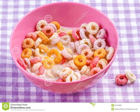 colorful cereal colorful breakfast cereals stock image image 42745601