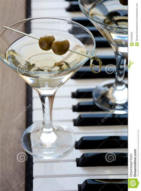 Two With Olive two olive martini cocktails stock photo image 64120253