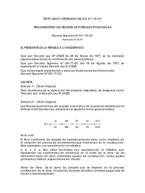 decreto supremo 2748 pdf 183016021 02 decreto supremo n 176 011 79 vc