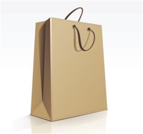 free elegant vector paper shopping bag design template 01