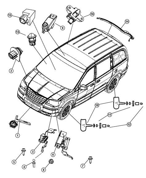 dodge grand caravan parts diagram 2008 dodge grand caravan sensors