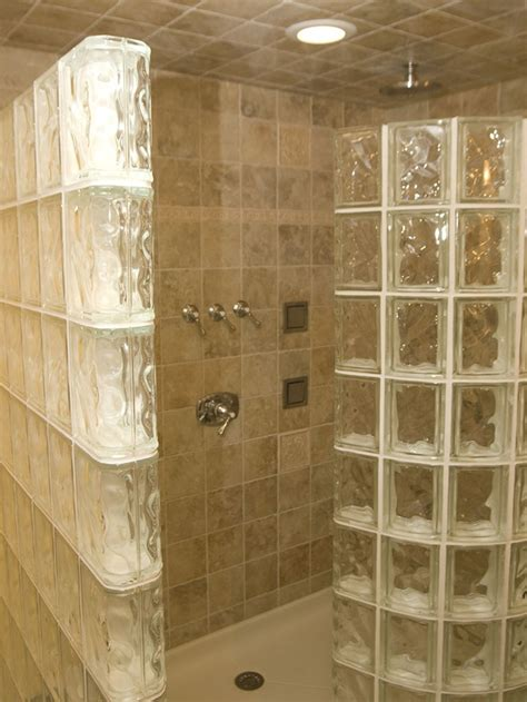 glass block bathroom ideas glass block shower bathrooms