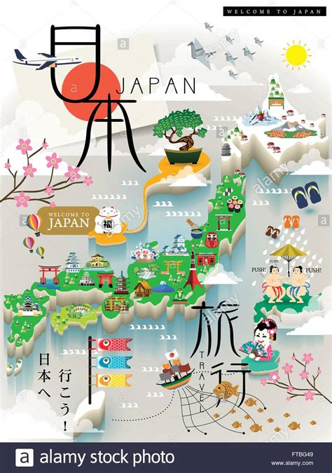 map of with attractions popular 187 list japan map for tourist